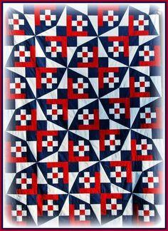 """""""Quilts of Valor"""": premier patchwork presque terminé..."""