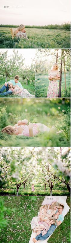 Lovely family session: color, warmth & romance