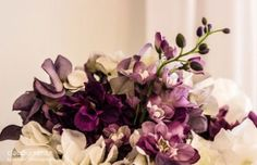 Purple wedding bouquet by Wedding Table Decorations in Toronto