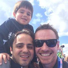 Michael, Felipe Massa and his little boy!