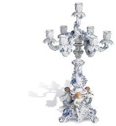 "Candlestick ""Blue onion pattern"", H 65 cm"