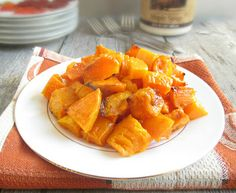 Maple Glazed Butternut Squash -- Maple Grove Farms products use quality ingredients to bring out the great taste you've come to expect - maplegrove.com #butternutsquash #delicious #maplesyrup
