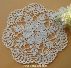 Pink Rose Crochet: Centrinho Flor Bonita