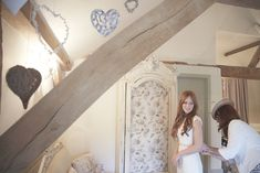 Getting ready in Jasmine Cottage at Upwaltham Barns, West Sussex