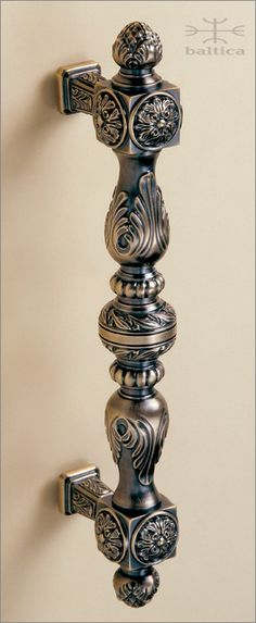 handcrafted door pull - Manifesto door pull 32.8cm - Antique Bronze - Custom Door Hardware  www.balticacustomhardware.com