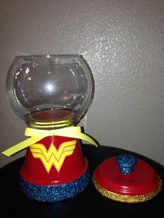 Wonder Women Candy Jar by designzbyvalerie on Etsy, $15.00