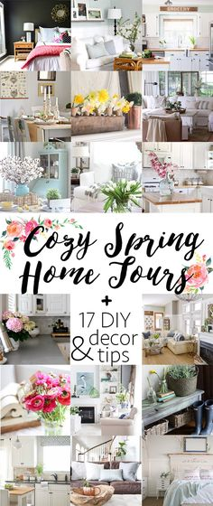 Welcome to our Spring 2016 Home Tour! Come in and take a peek at The House of Wood all decked out for Spring! Lots of DIY projects and decorating ideas.