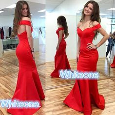 Modest Red Keyhole Back Formal Evening Wear Dresses V Neck Mermaid Long Prom Occasion Gowns Pageant Party Dress 2016 Hot Sale For Gir Plus Size White Evening Dresses Plus Sizes Evening Dresses From Whiteone, $90.71| Dhgate.Com