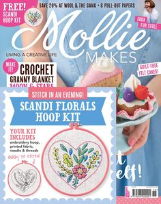 Mollie Makes is a lifestyle magazine for those who live creatively. We bring you the latest crafting trends in easy-to-follow how-tos, encouraging you to adapt and share your own crafty spin on things. We celebrate creative industries and give up-and-coming designers their first platform. We discuss hot topics in the design world with lots of insider tips. And above all, we aim to inspire you to live your best, artful life.