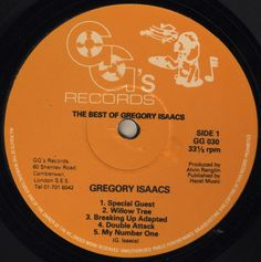 Gregory Isaacs - The Best Of Gregory Isaacs (Label)