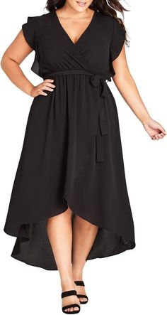 online shopping for City Chic Lolita High/Low Maxi Dress (Plus Size) from top store. See new offer for City Chic Lolita High/Low Maxi Dress (Plus Size) Flattering Plus Size Dresses, Plus Size Wedding Dresses With Sleeves, Dresses For Apple Shape, Plus Size Black Dresses, Plus Size Outfits, Nice Dresses, Ivory Dresses, Beach Dresses, Summer Dresses