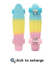 "Penny 22"" Pastels Fade Mint/White-Multi/Blue and Pink Skateboard Complete - 2014"