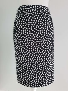 Vintage monochrome confetti pencil skirt | Yeah Yeah Retro