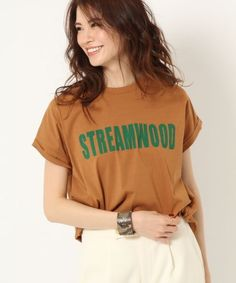【MICA&DEAL】STREAMWOD Tシャツ Buy T Shirts Online, New Print, Apparel Design, Cool T Shirts, Shirt Designs, Lady, Tees, Womens Fashion, Cotton