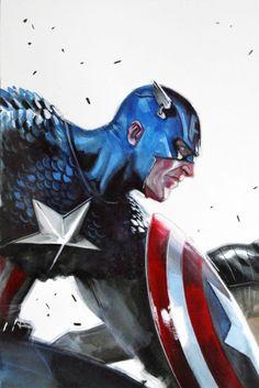 Comic Book Artwork • CAPTAIN AMERICA Marvel Comic Books, Marvel Art, Comic Books Art, Marvel Comics, Book Art, Superhero Poster, Geek Out, Captain America, Concept Art