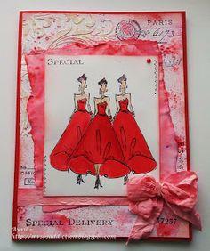 Tim Holtz Runway Girls, stencils and stamps