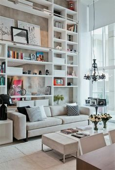 Looking for a place for those books home design decorating before and after room design house design interior Small Space Design, Small Spaces, Home Living Room, Living Spaces, Apartment Living, York Apartment, Living Area, Apartment Therapy, High Ceiling Living Room
