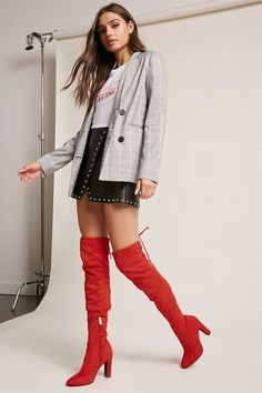 FOREVER 21 Tie Over-the-Knee Boots