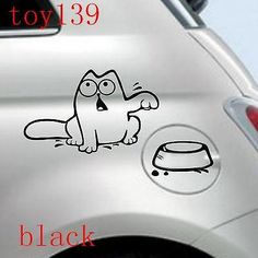 for-lovely-CAT-Decal-vinyl-car-i-pad-laptop-window-funny-sticker-decals-BLACK