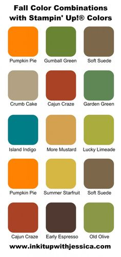 Stampin' Up! Color Combinations for Fall