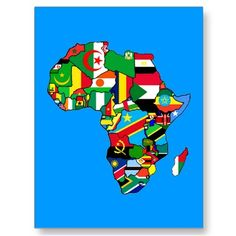 African Map of Africa flags within country maps Post Cards from http://www.zazzle.com/ghana+postcards