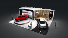 Stand Design, Booth Design, Exhibition Stall Design, Urban Design Concept, Starship Concept, Art Cars, Mazda, Interior Architecture, Bike Cart