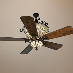 "54"" Craftmade Cortana In Peruvian With Crystal Ceiling Fan - #T4015-17375-T4018 