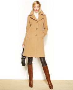 Anne Klein Petite Wool-Cashmere-Blend Walker Coat on shopstyle.co.uk