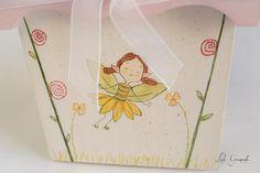 #Caja de #madera para #niña, decorada con #duende, para guardar sus gomitas del pelo. www.lolagranado.com