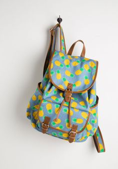 Victory is Pineapple! Backpack. Score a stylish win by toting this cheerfully printed backpack. #blue #modcloth