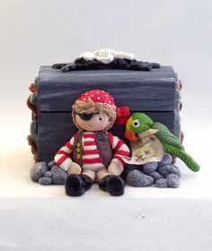 Pirate Gift Box for Boys - created by Kathryn Sturrock with her Sugar Buttons range of silicon moulds from Katy Sue Designs