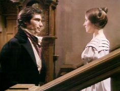 """The BBC production of """"Jane Eyre"""" directed by Julian Amyes, based on the novel by Charlotte Brontë. Charlotte Bronte Jane Eyre, Emily Bronte, Jane Eyre 1983, Little Dorrit, Timothy Dalton, No One Loves Me, Great Books, Doctor Who, Love Story"""