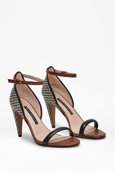 Nanette Woven Heel Sandals - Shoes - French Connection