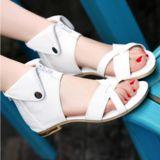 Elegant X-Strap Zippered Sandals