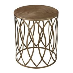 Sutton-Accent Table In Gold Leaf - 138-009