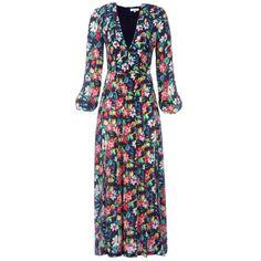 Camellia Dress Bohemian Black Floral | Rixo | Wolf & Badger