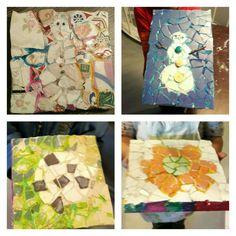 Mosaik. Von Nila 5, Luca 6, Ayman 5 und Nelia 6