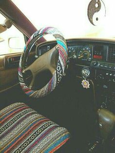 Hippie seat & steering wheel cover