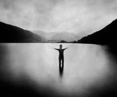 I like it because its nature and it looks like the person is standing in the middle of a lake.