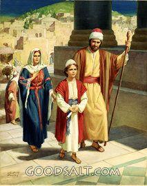 Familia de Jesús Entrando Templo