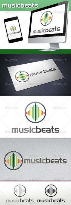 Music Beats Logo — Vector EPS #equalizer logo #dj logo • Available here → graphicriver.net/...
