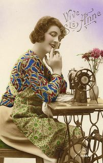 meggiecat: Vintage Sewing Postcards