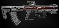 Sci Fi Weapons, Armor Concept, Weapon Concept Art, Future Weapons, Wolfenstein, Apocalypse Survival, Futuristic Design, Cool Guns, Assault Rifle