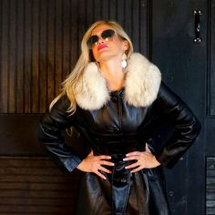 60s Designer Black Lambskin Leather Trench & by RenegadeRevival, $369.99