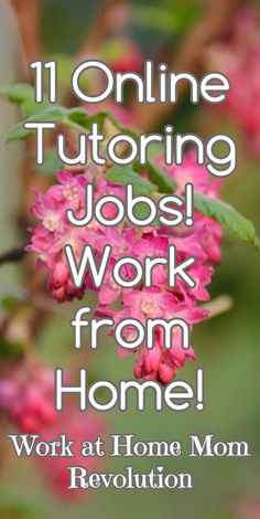 11 Online Tutoring Jobs!  Work from Home! / Work at Home Mom Revolution