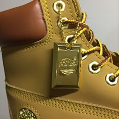 Timberland Authentic Mens 6 Inch Boots - Wheat and Gold with Gold Medal