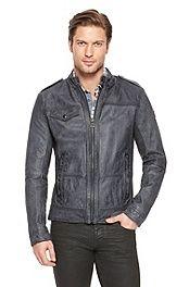 'Jovolt' | Buffalo Leather Jacket #bossorange