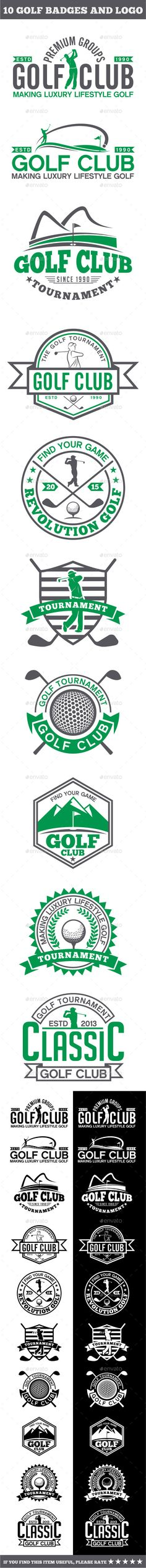 10 Golf Badges-Stickers & Logos - Badges & Stickers Web Elements