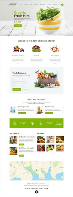 Organic store is a colorful design responsive 4 in 1 #HTML #theme for organic #farms #eCommerce #store agricultural business, agrotourism, healthy food blog, organic food shop website download now➩ https://themeforest.net/item/organic-food-eco-products-site-template/17409598?ref=Datasata