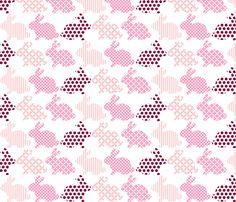 Bunnies fabric by brownpaperpackages on Spoonflower - custom fabric